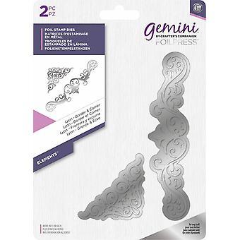 Gemini Foil Stamp Die Elementit - Lyon Border & Corner