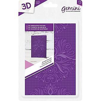 Gemini Ornate Flourish A6 3D Embossing Folder