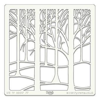 Claritystamp Art Sjablong 7x7 tommers Treescape