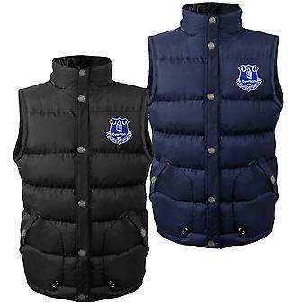 Everton FC Official Football Gift Mens Padded Body Warmer Jacket Gilet