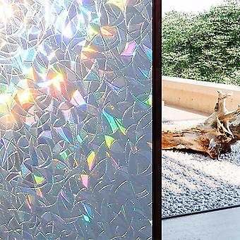 3d No Glue Static Decorative Privacy Window Rainbow Films, Self Adhesive Film