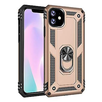 R-JUST iPhone 11 Pro Max Case - Shockproof Case Cover Cas TPU Gold + Kickstand