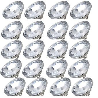 20pcs 25mm Sunflower Diamond Silver Color Round Crystal Sew Buttons