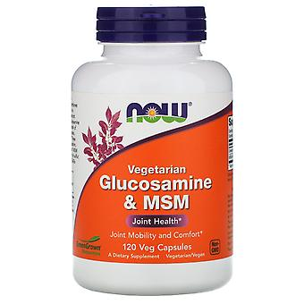 Now Foods, Glucosamina Vegetariana & MSM, 120 Cápsulas Veg