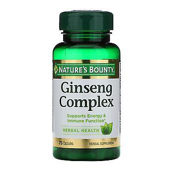 Naturens bounty, Ginseng Complex, 75 kapslar