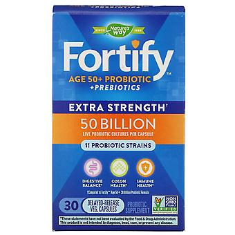 Nature's Way, Fortify, Age 50+ Probiotic + Prebiotics, Extra Strength, 30 Delaye