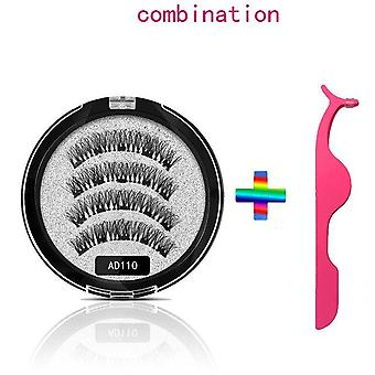 Magnetic Eyelashes With 5 Magnets 3D False Lashes Natural For Mink Eyelashes Extension