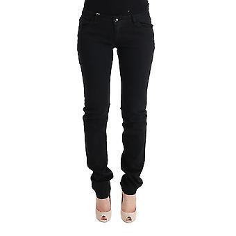 Cavalli Black Cotton Slim Fit Low Waist Jeans SIG32426-6