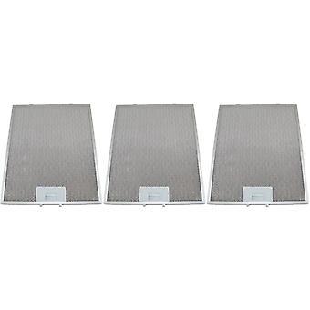 3 x Universal Cooker Hood Metal Grease Filter 274mm x 334mm