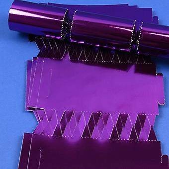 12 Purple Foil Make & Fill Your Own DIY Christmas Cracker Boards