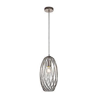 Luminosa Lighting - Buet bur cylinder loft vedhæng, 1 x E27, poleret nikkel
