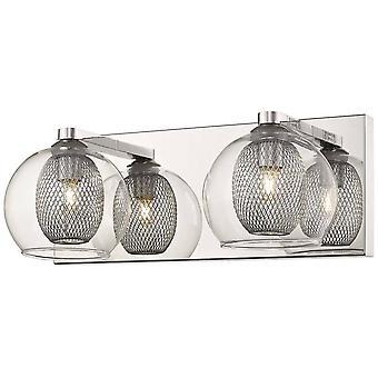 Éclairage de ressort - 2 Lumières intérieures Mur Maillage Chrome, G9