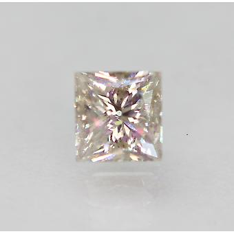 Certificado 0.51 quilates J VVS2 princesa diamante suelto natural mejorado 4.3x4.14mm