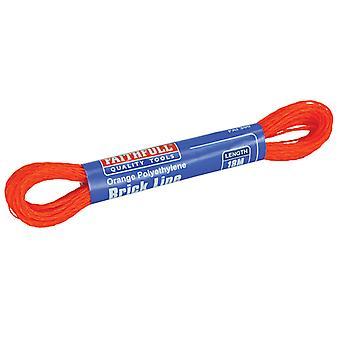 Faithfull 300 Polyethylen Ziegel Linie 18m (59ft) Orange (Box von 12) FAI300