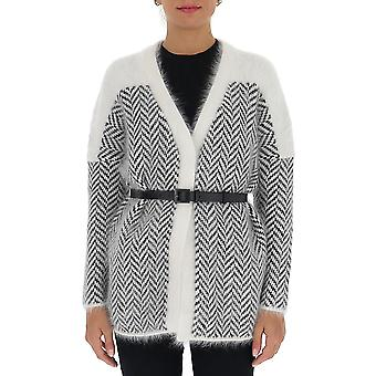 Fabiana Filippi Mad220b709f041vr2 Mulheres's Cardigan cashmere branco/preto