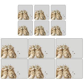 Pimpernel Wrendale Owl Placemats and Coasters Set of 6