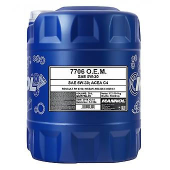 Mannol 20L 5W-30 C4 Fully Synthetic Engine Oil RN 0720 MB 226.51/229.51