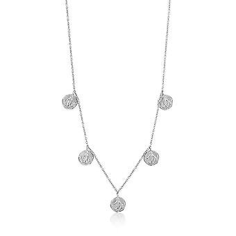 Ania Haie Sterling Silver Rhodium Plated Dues Necklace N009-07H