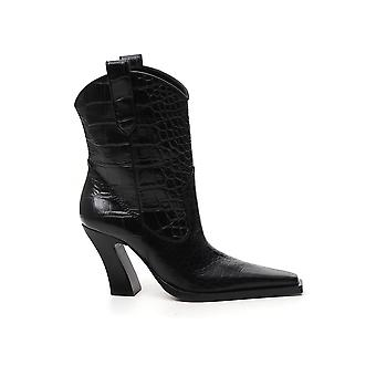 Tom Ford W2802lcl125u9000 Women's Black Leather Ankle Boots