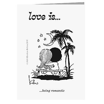 Liebe ist romantische Grußkarte