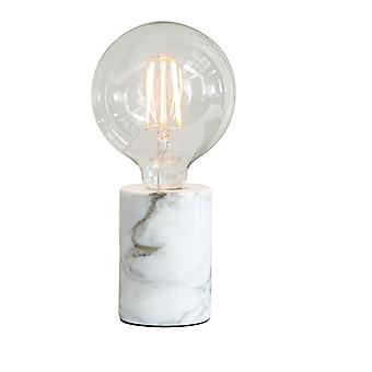 Endon Lighting Otto - Tischleuchte Weiß Marmor 1 Licht IP20 - E27