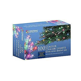 100 LED String Chaser Colour Light Ultra Bright, Indoor Outdoor Christmas