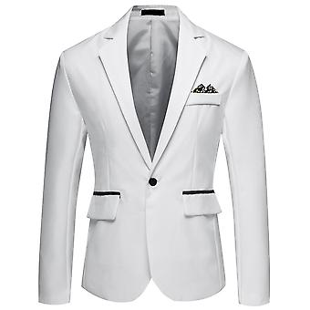 YANGFAN Men's Casual Suit Jacket One Button Notched Lapel Blazer