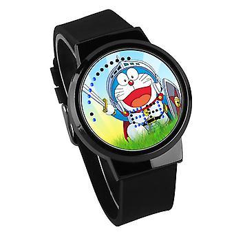 Водонепроницаемые светящиеся светодиодные цифровые сенсорные детские часы - Doraemon #11