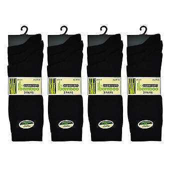 Otterdene Mens Bamboo Socks Size 6-11 x 3 Black AS964