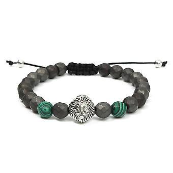 8mm Vert Matte Lion Head Hommes Bracelet Série Chaîne de bijoux