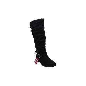 Xoxo Womens mayson Leather Round Toe Knee High Fashion Boots