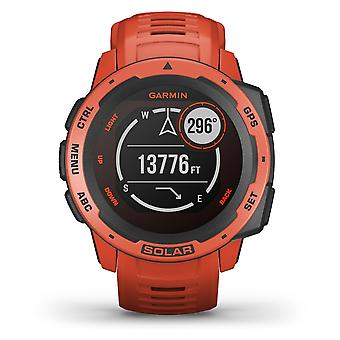 Garmin 010-02293-20 Instinct Smartwatch Solar Gps Flame Red Siliconen Bluetooth Horloge