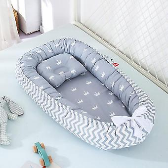 Baby Nest Bed, Portable Crib, Travel Infant, Toddler, Cotton Cradle