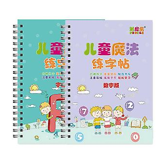Reusable 3d Copybook For Calligraphy Number English Handwriting Books