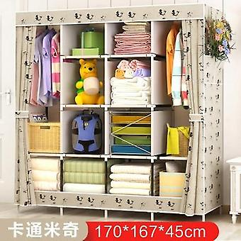 Normal Large Size Modern Simple Wardrobe, Fabric Folding Cloth, Storage