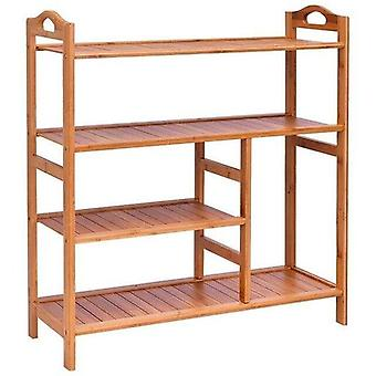 Bamboo Storage Shoe Rack Multifunction
