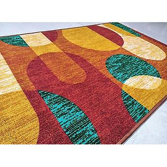 Geometric Polyester Area Rug Anti-slip Small Carpet / Runners