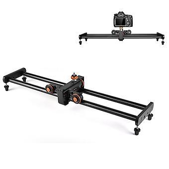 YELANGU YLG0119A 60cm empalme de la pista de riel deslizante + hebilla del carril del carro para cámaras SLR / cámaras de vídeo (negro)
