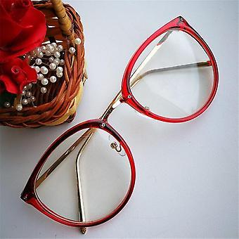 Optical Transparent Glasses Women Myopia Eyeglasses Frames Metal Spectacles