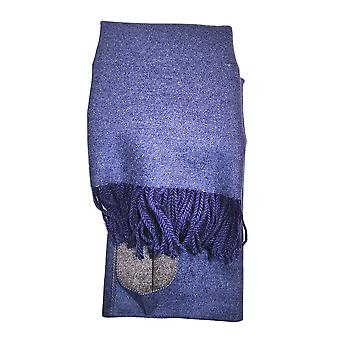 Reversible Blue Ladies Scarf by Butterfly Fashion London