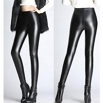 Spring Autumn, Winter Soft, Pu Leather Skinny Trousers Pant