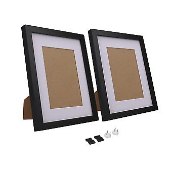 2Coseilliards photo image Cadres 8Inchx10Inch avec mat pour tabletop Display Black