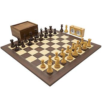 The Sentinel Rosewood and Palisander Grand Luxury Chess Set
