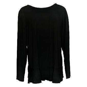 Linea door Louis Dell'Olio Women's Top Soft Peplum Knit Top Black A302559