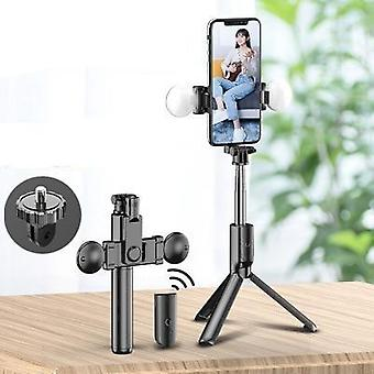 Selfie Stick Tripod, Two Led Fill Light - Bluetooth And Remote Control
