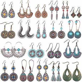 Duufin 20 Pairs Boho Earrings Women Dangle Earrings  for Women Girls