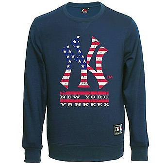 Majestic Rubeck NYY New York Yankees Graphic Navy Mens Sweater MNY1234NL Y37B