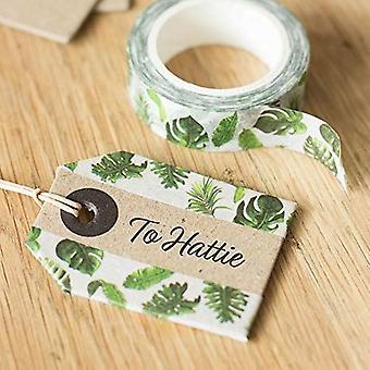 Plant Leaf Washi Paper Tape 10m - Decorative Craft Tape
