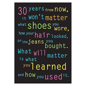 """30 Jahre von jetzt... Argus Poster, 13.375"""" X 19"""""""
