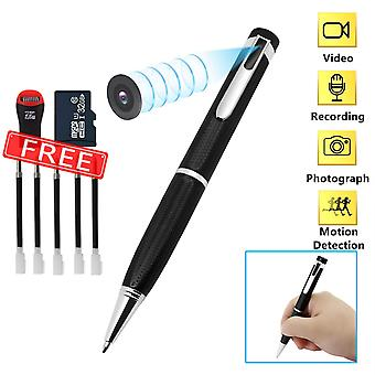 Spy cameras pen,hidden camera 32gb 1080p hd mini portable pocket cam covert camera audio and video r